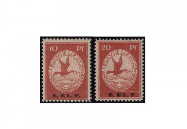 Briefmarken Deutsches Reich Flugpostmarken Komplett-Satz E.EL.P. 1912 Michel-Nr. V/VI postfrisch