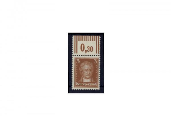 Briefmarke Deutsches Reich Johannes Wolfgang Goethe 1926 Michel-Nr. 385 W OR postfrisch