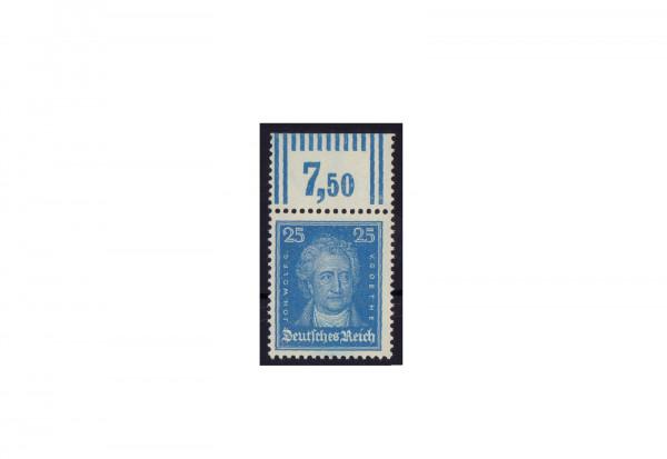 Briefmarke Deutsches Reich Johannes Wolfgang von Goethe 1926 Michel-Nr. 393 W OR postfrisch