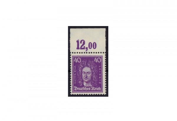 Briefmarke Deutsches Reich Gottfried Wilhelm Leibniz 1926 Michel-Nr. 395 W OR postfrisch