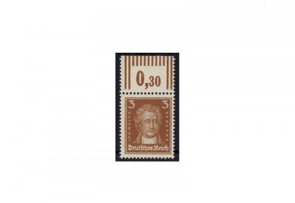 Briefmarke Deutsches Reich Johannes Wolfgang von Goethe 1926 Michel-Nr. 385 P OR postfrisch