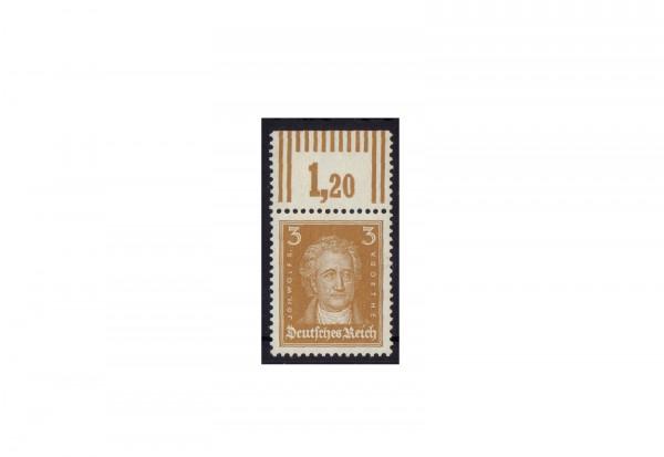 Briefmarke Deutsches Reich Johannes Wolfgang von Goethe 1926 Michel-Nr. 386 P OR postfrisch