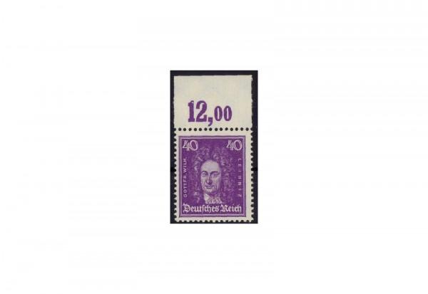 Briefmarke Deutsches Reich Gottfried Wilhelm Leibniz 1926 Michel-Nr. 395 P OR postfrisch