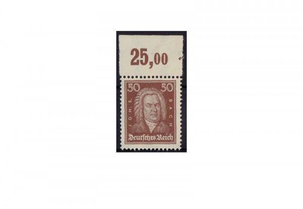 Briefmarke Deutsches Reich Johann Sebastian Bach 1926 Michel-Nr. 396 P OR postfrisch