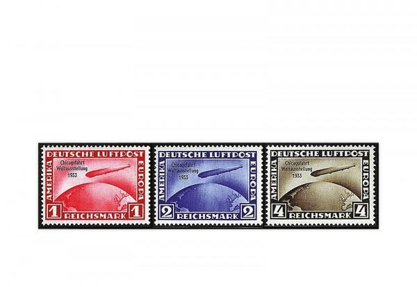 Briefmarken Deutsches Reich Chicago 1933 Michel-Nr. 496/498 mit Falz