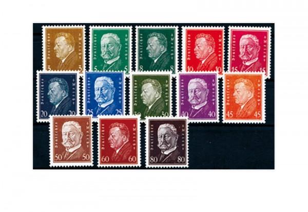 Briefmarken Deutsches Reich 1928 Michel-Nr. 410/22 mit Falz