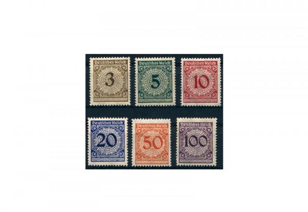 Briefmarken Deutsches Reich 1923 Michel-Nr. 338/343 mit Falz