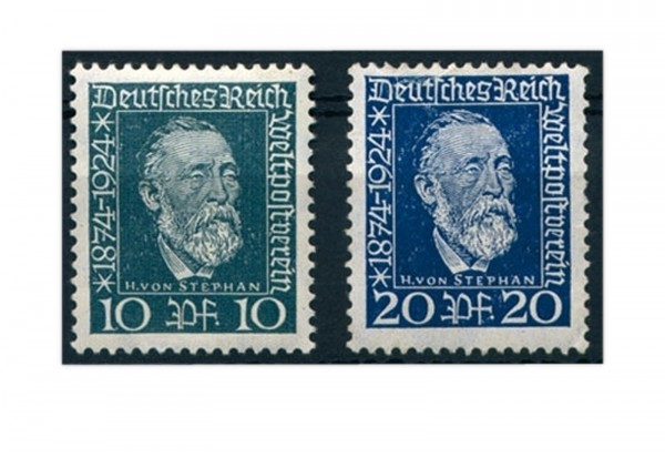 Briefmarken Deutsches Reich 1924 Michel-Nr. 368/369 Falz