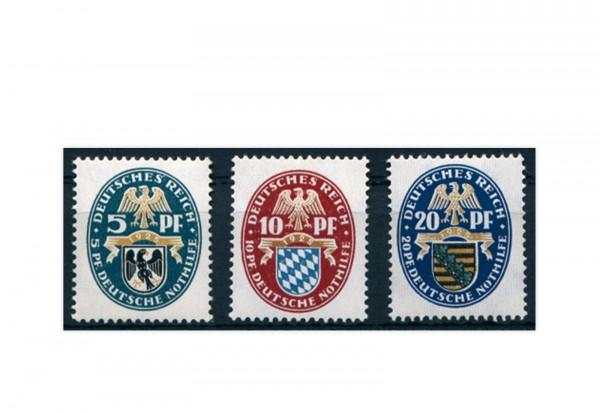 Briefmarken Deutsches Reich 1925 Michel Nr. 375/377 Falz