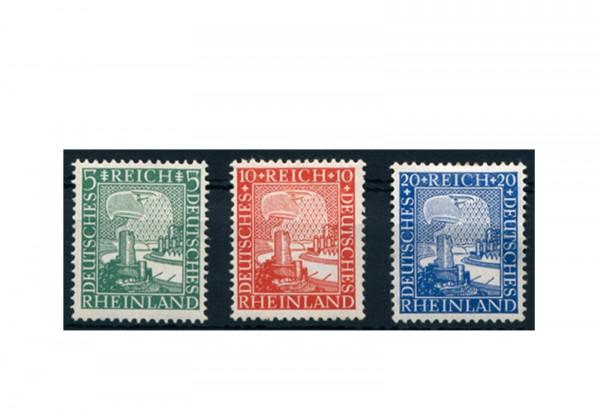 Briefmarken Deutsches Reich Rheinland 1000 Jahre deutsch 1925 Michel-Nr. 372/74 Falz