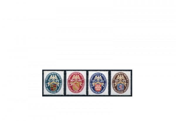 Briefmarken Deutsches Reich Nothilfe Wappen 1926 Michel-Nr. 398/401 Falz