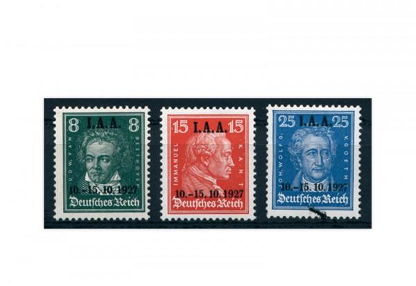 Briefmarken Deutsches Reich 1927 Michel-Nr. 407/409 postfrisch