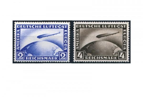 Briefmarken Deutsches Reich Luftschiff LZ 127 Graf Zeppelin 1928 Michel-Nr. 423/424 Falz
