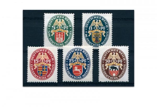 Briefmarken Deutsches Reich 1928 Michel Nr. 425/29 Falz