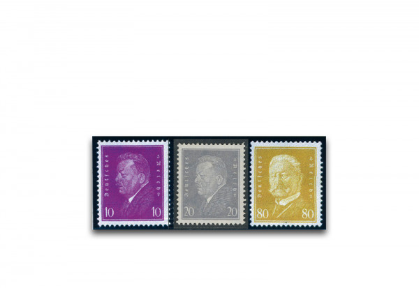 Briefmarken Deutsches Reich 1930 Michel-Nr. 435/37 Falz