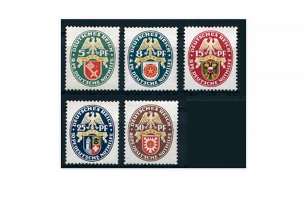 Deutsches Reich Mi.Nr. 430/434 mit Falz