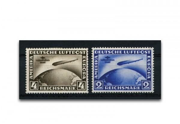 Briefmarken Deutsches Reich Flugpostmarken 1930 Michel-Nr. 438/439 Falz