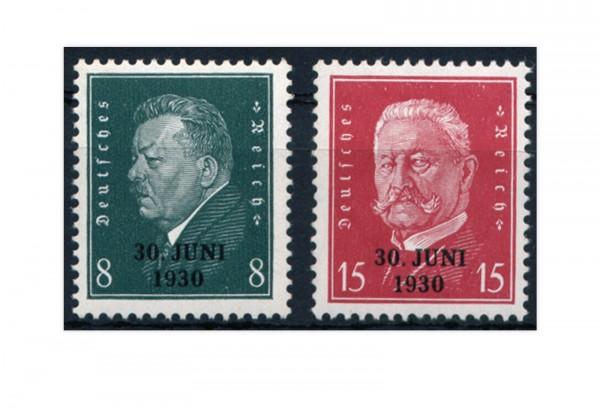 Briefmarken Deutsches Reich 1930 Michel-Nr. 444/45 mit Falz