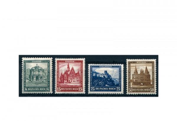 Briefmarken Deutsches Reich Nothilfe Bauwerke 1931 Michel-Nr. 459/62 Falz