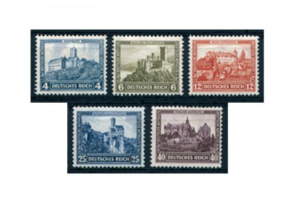 Briefmarken Deutsches Reich Nothilfe Burgen und Schlösser 1932 Michel-Nr. 474/478 Falz