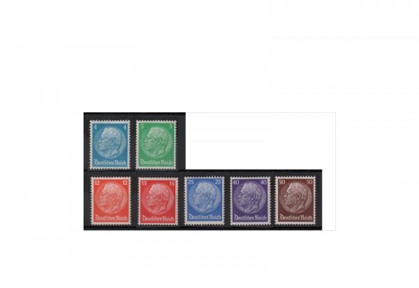 Briefmarken Deutsches Reich Hindenburg-Medaillon I 1932 Michel-Nr. 467/73 mit Falz