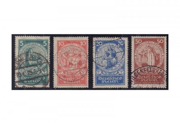 Briefmarken Deutsches Reich Nothilfe Rosenwunder 1924 Michel-Nr. 351/354 gestempelt