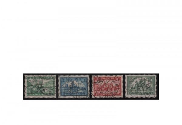 Briefmarken Deutsches Reich Bauwerke 1924 Michel-Nr. 364/367 gestempelt