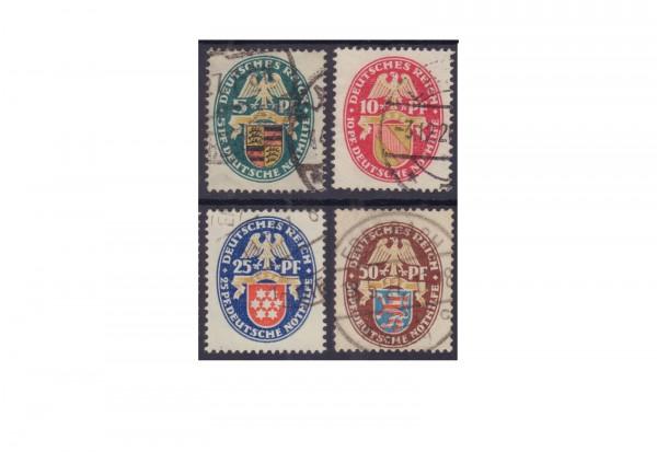 Briefmarken Deutsches Reich Nothilfe: Landeswappen (II) 1926 Michel-Nr. 398/401 gestempelt