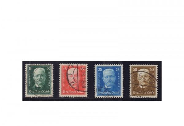 Briefmarken Deutsches Reich Wohltätigkeitsausgaben für die Deutsche Nothilfe 1927 Michel-Nr. 403/406