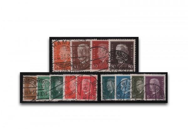 Deutsches Reich Mi.Nr. 410/422 gestempelt
