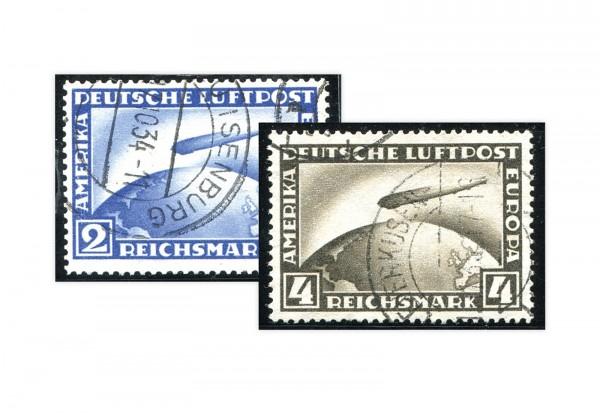 Briefmarken Deutsches Reich Flugpostmarken 1928 Michel-Nr. 423/424 gestempelt