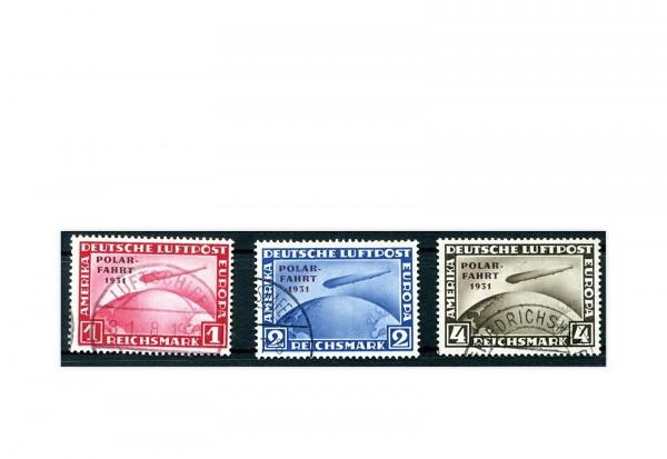 Deutsches Reich Flugpostmarken 1931 gestempelt