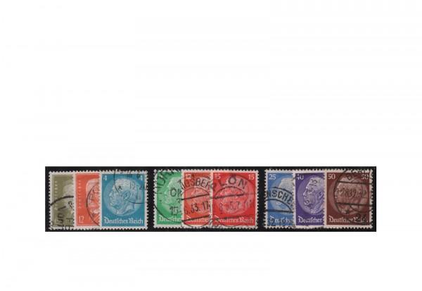 Deutsches Reich Mi.Nr. 467/473 gestempelt