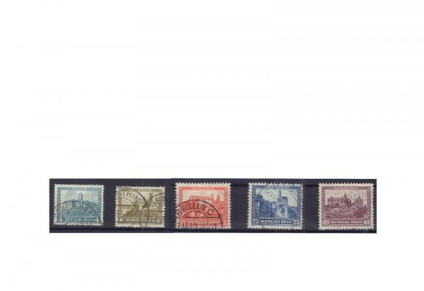 Deutsches Reich Michel Nr. 474/78 gestempelt