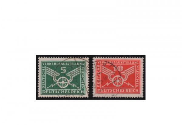 Briefmarken Deutsches Reich Verkehrsausstellung München 1925 Michel-Nr. 370/371 gestempelt