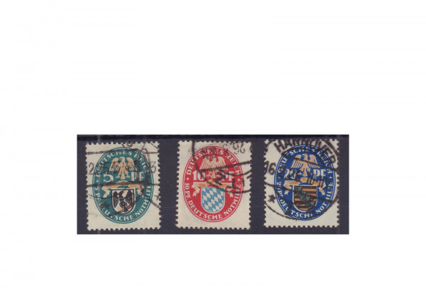 Briefmarken Deutsches Reich 1925 Michel-Nr. 375/377 gestempelt