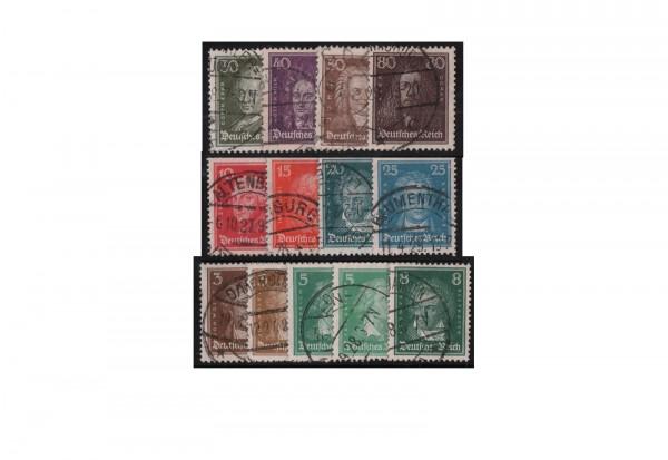 Deutsches Reich Mi.Nr. 385/397 gestempelt
