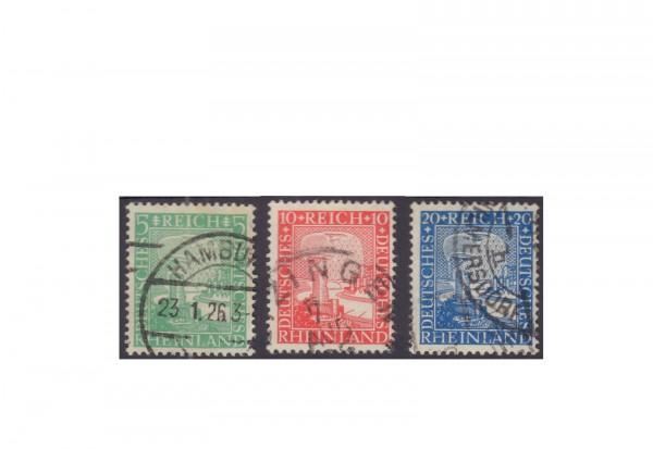 Briefmarken Deutsches Reich 1925 Michel-Nr. 372/74 gestempelt