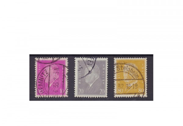 Deutsches Reich Mi.Nr. 435/437 gestempelt