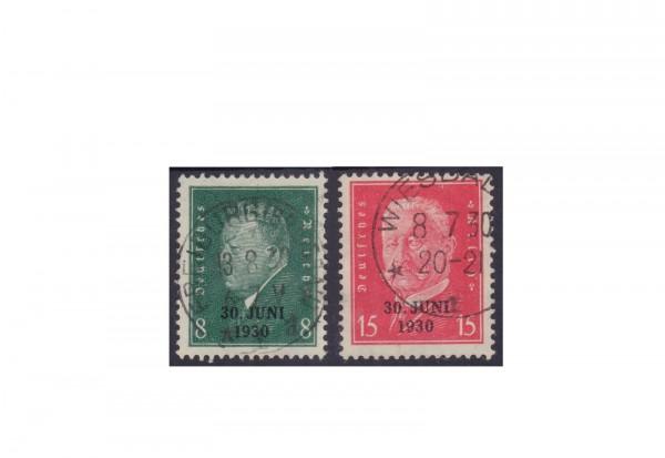 Deutsches Reich Michel Nr. 444/45 gestempelt