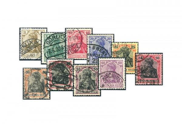 Deutsches Reich Michel-Nr. 84/93 II gestempelt