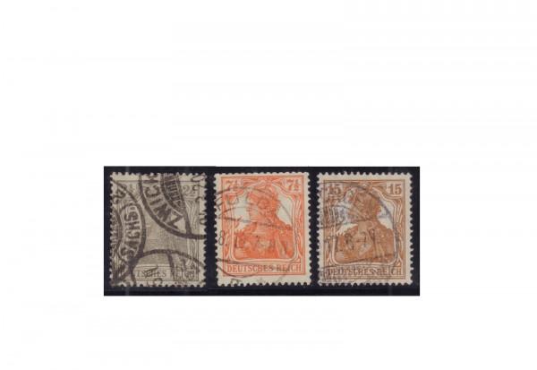 Deutsches Reich Michel-Nr. 98/100 gestempelt