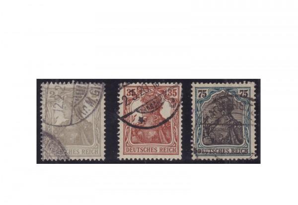 Deutsches Reich Michel-Nr. 102/104 gestempelt