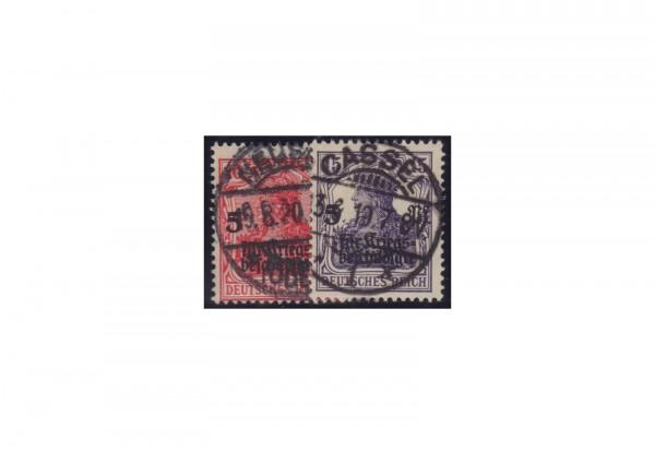 Deutsches Reich Michel-Nr. 105/106 gestempelt