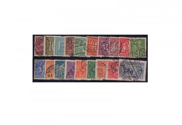 Deutsches Reich Mi.Nr. 158/176 gestempelt