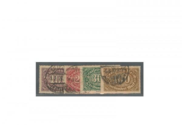 Briefmarken Deutsches Reich Freimarke 1992 Michel-Nr. 219/23 gestempelt