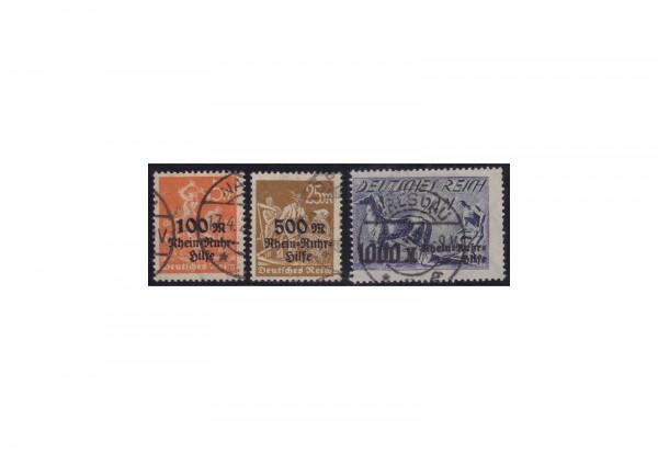 Deutsches Reich Michel 258 / 60 gestempelt