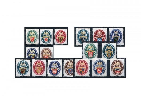 Briefmarken Deutsches Reich Wappen 1925-1929 postfrisch