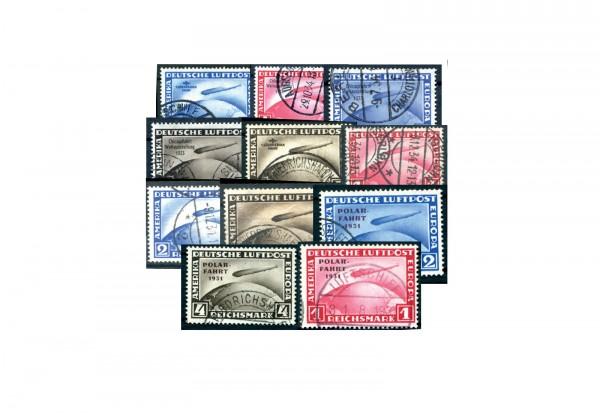Briefmarken Deutsches Reich 1928-1933 Zeppeline Michel-Nr. 423-424,455,438-439,456-458,496-498 geste