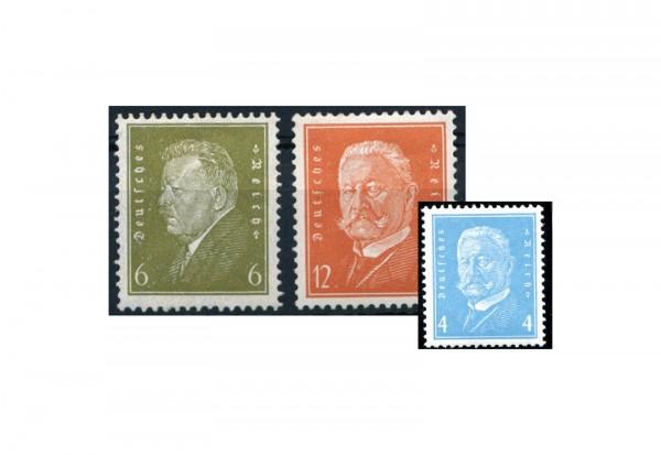 Weimarer Republik Freimarkensatz - Reichspräsidenten (IV) Mi.Nr. 465/6 + 454 Postfrisch